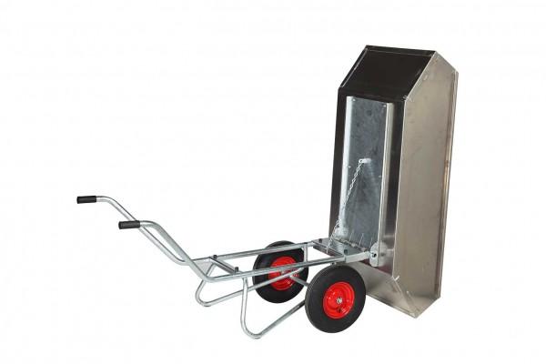 Kippkarre Zweiradkarre mit Aluminium-Wanne