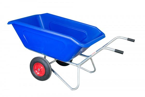 Zweiradkarre KuKi 400-2 blaue Wanne