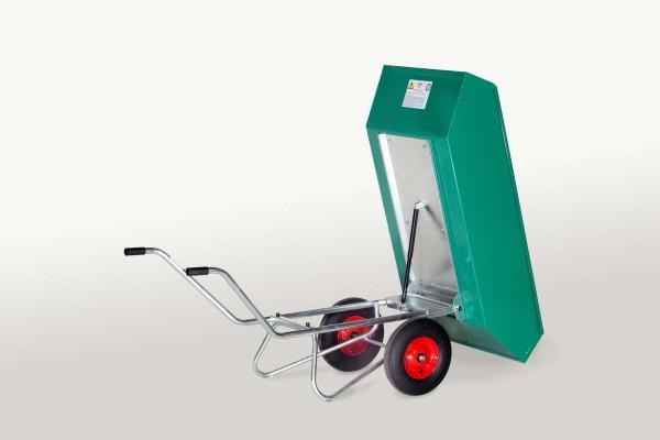 Kippkarre Zweiradkarre Stahl, pulverbeschichtet, Gasdruckfeder