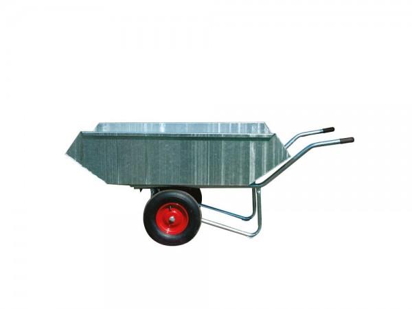 Kippkarre Zweiradkarre mit Stahlblechwanne, verzinkt, Federmechanismus
