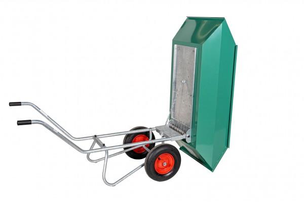 Kippkarre Zweiradkarre Stahl, pulverbeschichtet mit Federmechanismus